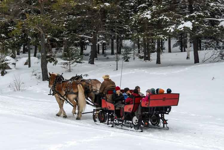 Open-sleigh-ride